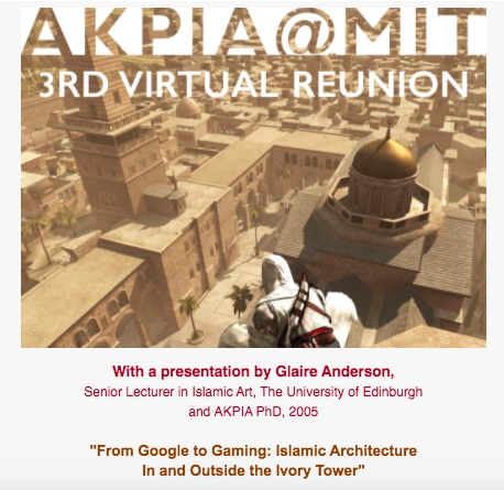 Flyer designed by José Luis Arguello of AKPIA@MIT, using a still from Assassin's Creed.
